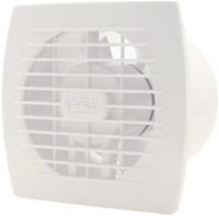 Badkamerventilator of toiletventilator diameter: 120 mm WIT met TIMER E120T-1