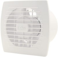 Badkamerventilator of toiletventilator diameter: 120 mm WIT met TIMER E120T