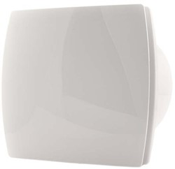 Badkamerventilator of toiletventilator diameter: 120 mm WIT Design met TIMER en VOCHTSENSOR T120HT