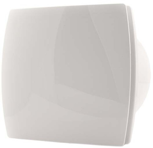 Badkamerventilator of toiletventilator diameter: 120 mm WIT Design met TIMER en VOCHTSENSOR T120HT