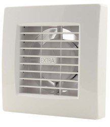 Badkamerventilator of toiletventilator diameter: 120 mm WIT Luxe met TIMER X120T