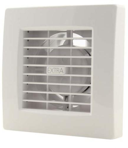 Badkamerventilator of toiletventilator diameter: 120 mm WIT Luxe met TIMER X120T
