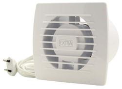 Badkamerventilator of toiletventilator diameter: 120 mm WIT voorzien van Trekkoord en stekker E120WP
