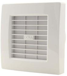Badkamerventilator of toiletventilator diameter: 100 mm WIT met AUTOMATISCHE SLUITKLEP X100Z
