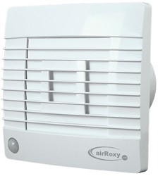 Badkamer ventilator met Automatische Sluitklep, Bewegingssensor en Timer 100 mm wit - Prestige 100ZGMS