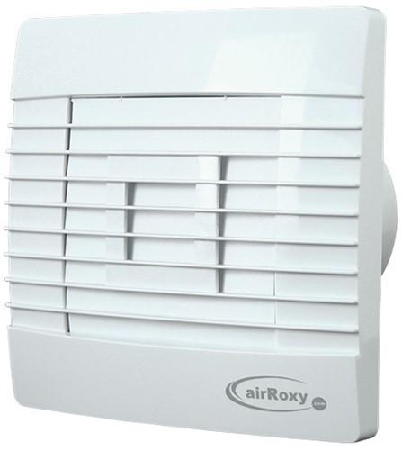 Badkamer ventilator met Automatische Sluitklep en Timer 120 mm wit - Prestige 120ZGTS