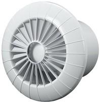 Badkamer ventilator rond diameter 100 mm wit - 100BB