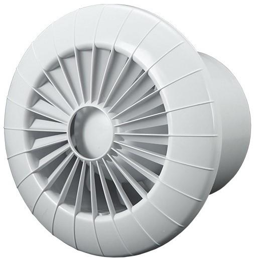 Badkamer ventilator rond diameter 100 mm wit met TIMER - 100BBTS ...