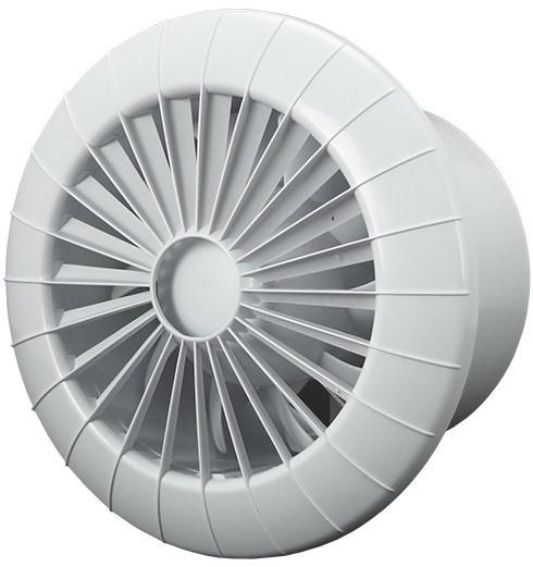 Badkamer ventilator rond diameter 120 mm wit met VOCHTSENSOR EN ...