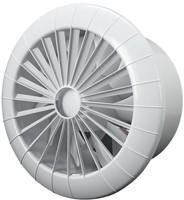 Badkamer ventilator rond diameter 150 mm wit met VOCHTSENSOR EN TIMER - 150BBHS