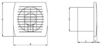 Badkamerventilator of toiletventilator diameter: 100 mm GOUD basis E100G