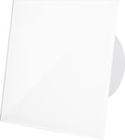 Badkamerventilator wit (glanzend) glazen front