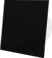 Badkamerventilator zwart glazen front