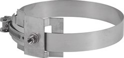 Beugel diameter  230 mm M8 I316L