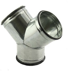 Broekstuk 45° diameter 250 mm - 200 mm voor spiraalbuis