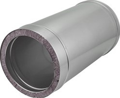 DW diameter 100 mm (100/150) buis L500 I316L/I304 (D0,5/0,6)