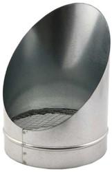 Buisrooster 45 graden met gaas diameter: 100 mm