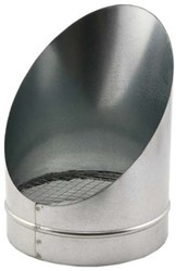 Buisrooster 45 graden met gaas diameter: 125 mm