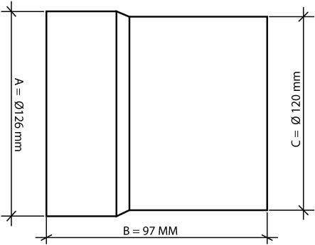 Buisventilator kunststof diameter 120 mm