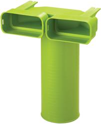 Ubbink Ventieladapter 90° rond 125 mm naar 2 x plat ovaal 60x132