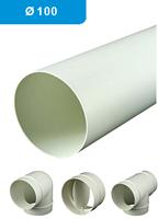 Ventilatiebuis kunststof rond en toebehoren Ø 100 mm