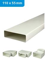 Ventilatiekanalen rechthoekig en toebehoren 110x55