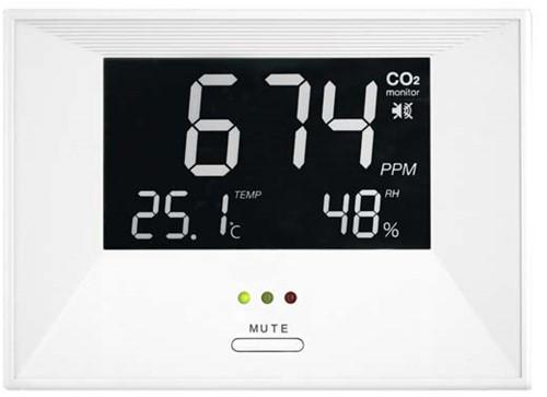 CO2 meter - air indicator inclusief temperatuur en vocht weergave (ZG1683RU)
