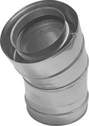 Concentrische diameter 130 - 200 mm bocht 30 gr I316L/I304 (D0,5/0,6)
