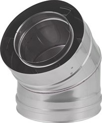 Concentrische diameter 100 - 150 mm bocht 45 gr I316L/I304 (D0,5/0,6)