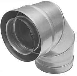 Concentrische diameter  80 - 125 mm bocht 90 gr I316L/I304 (D0,5/0,6)