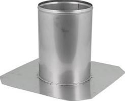 Dakdoorvoer diameter  600 mm plat dak INOX
