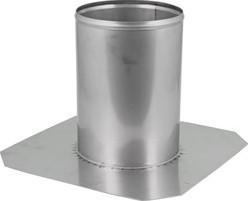 Dakdoorvoer diameter 100 mm plat dak INOX
