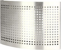 RVS ventilatie toevoer ventiel Ø 125 mm met geperforeerde kap voor wandmontage - DTQAY125Y-1