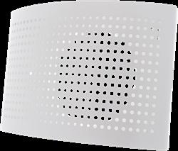 Ventielen toevoer met geperforeerde kap (wit)