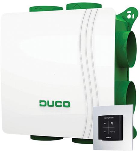 DucoBox Silent 400m³/h + vocht boxsensor + RFT bediening - randaarde stekker