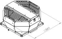 Ruck dakventilator verticaal met EC motor en opendraaiende ventilatie-unit 1970m³/h - DVA 280 ECP 31-2