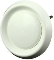 Ventilatie ventielen kunststof rond Ø125mm wit met klemveren (DAV 125)-1
