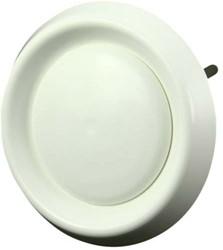 Ventilatie ventielen kunststof rond Ø125mm wit met klemveren (DAV 125)