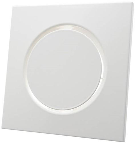 Ventilatieventiel afvoer metaal vierkant Ø125 mm wit met klemveren - DVSQ125