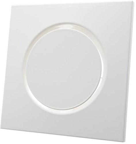 Ventilatieventiel toevoer metaal vierkant Ø125 mm wit met klemveren - DVSQ-P125