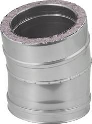 DW diameter  80 mm (80/130) bocht 15 gr I316L/I304 (D0,5/0,6)