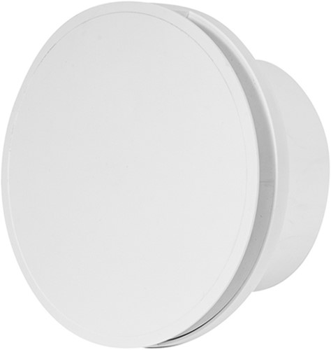 Badkamer ventilator rond 100 mm WIT met TIMER - design EAT100T