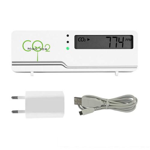 CO2 meter - air indicator compact inclusief temperatuur weergave + stekker