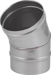 Kachelpijp Ø 100 mm RVS enkelwandige bocht 30°