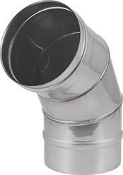 Kachelpijp Ø 100 mm RVS enkelwandige bocht 60°