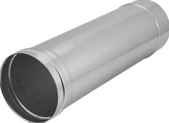 Kachelpijp Ø 100 mm RVS enkelwandig - L = 500 mm