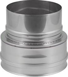 EW diameter  100 mm verloop plat I316L (D0,5)