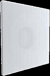 Plafondroosters geperforeerd met coanda effect en bovenaansluiting voor toevoer