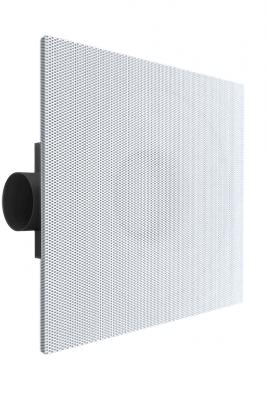 Plafondrooster 600x600 geperforeerd met instelbare toevoer - ongeïsoleerd plenum met zijaansluiting 315 mm