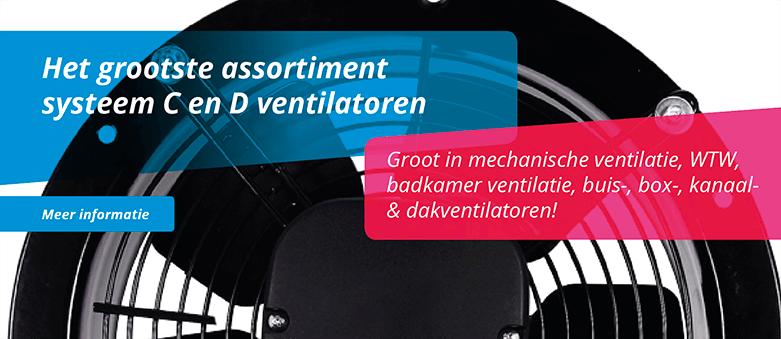 Het grootste assortiment ventilatoren van Belgie vind u op ventilatieland.be